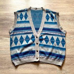 Vintage - Unisex Sweater Vest - Oversized - M/L